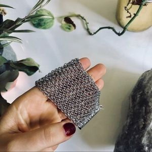NEW FREE PEOPLE Silver Chain Magnetic Bracelet